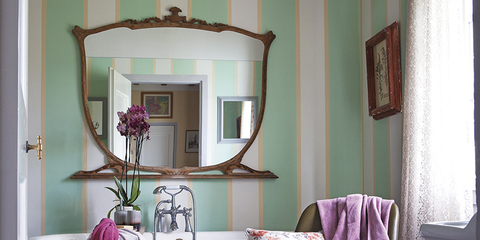 salle de bains r tro chic. Black Bedroom Furniture Sets. Home Design Ideas