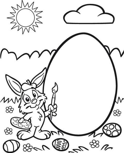 Immagini di pasqua e disegni a coniglietto pasquale da - Modelli di coniglietto pasquale gratis ...