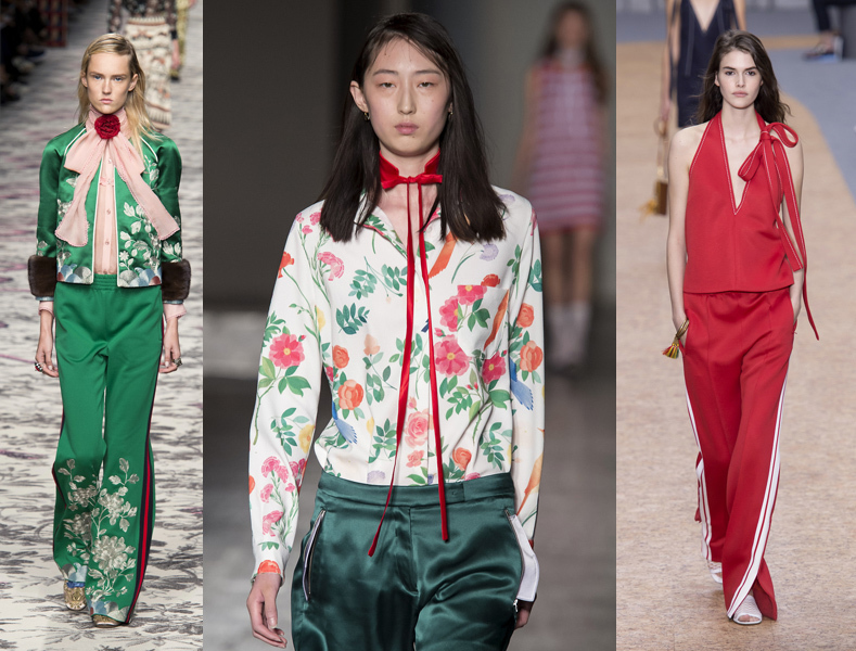Estremamente Moda estate 2016: camicia di seta a fantasia e pantaloni sporty VJ76