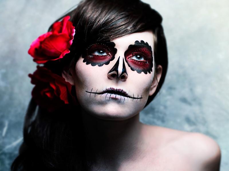Molto Trucco fai da te: 40 idee per truccarsi la notte di Halloween UJ09