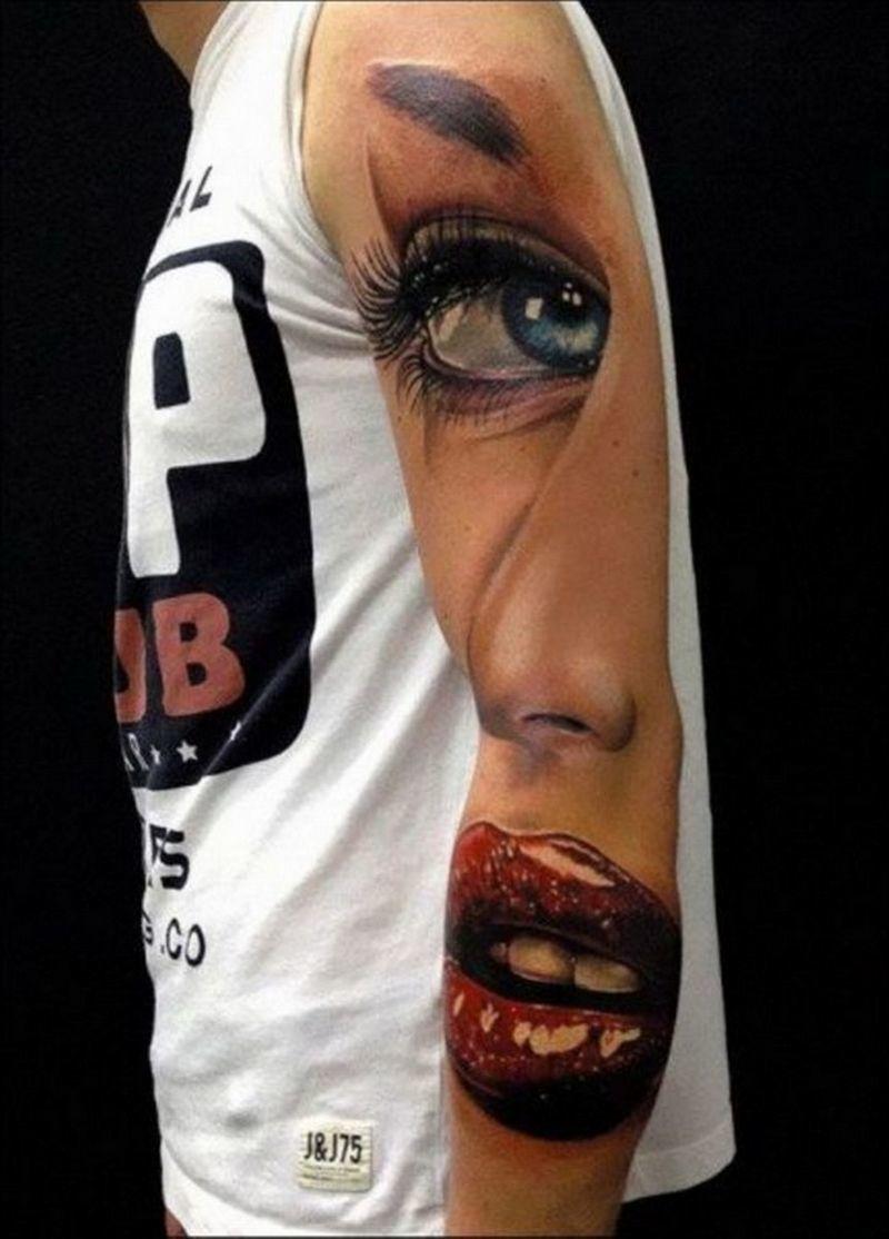 Preferenza 32 tatuaggi in 3D che vi sbalordiranno SL13