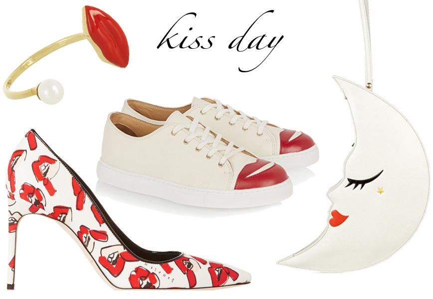 Giornata mondiale del bacio scarpe borse accessori con for Giornata mondiale del bacio 2018