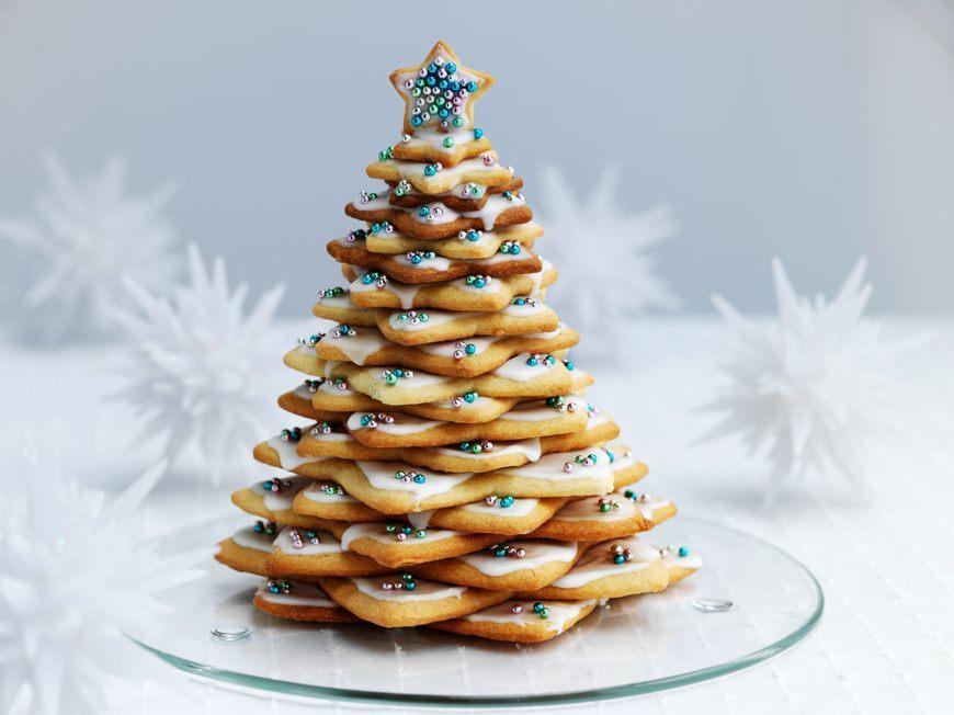 10 alberi di natale fatti con biscotti caramelle e frutta for Alberi natale artificiali