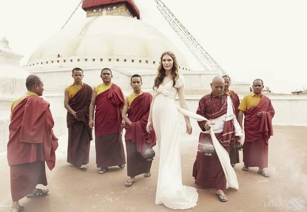 Matrimonio In Nepal : Leila hafzi collezione sposa shooting abiti moda wedding