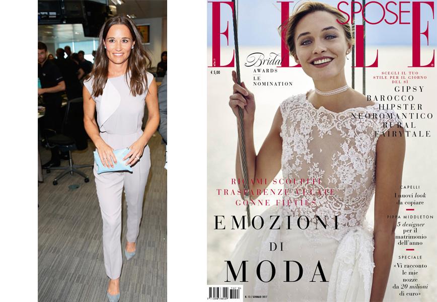 Eccezionale 5 abiti da sposa per Pippa Middelton su Elle Spose FC21