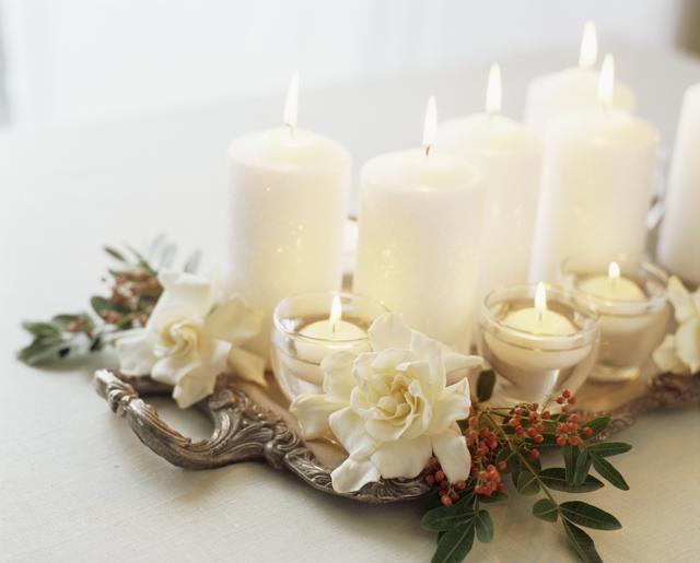 Preferenza 12 centrotavola natalizi fai da te creativi con candele e fiori RK15