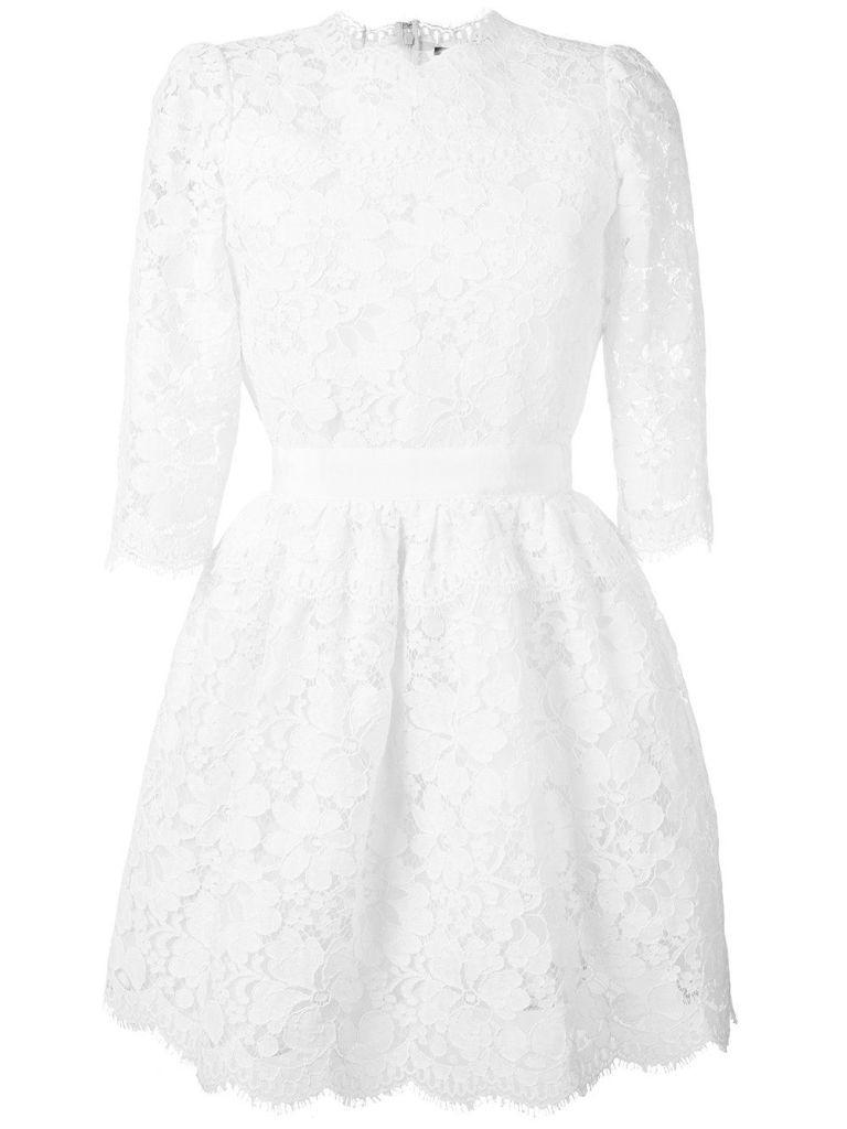 Eccezionale Vestiti da cerimonia: Kate Middleton in abito di pizzo bianco  UY52